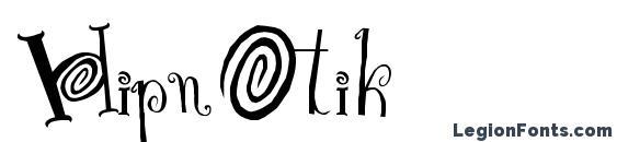 шрифт HipnOtik, бесплатный шрифт HipnOtik, предварительный просмотр шрифта HipnOtik