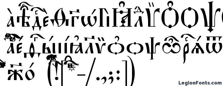 glyphs Hirmos ieUcs font, сharacters Hirmos ieUcs font, symbols Hirmos ieUcs font, character map Hirmos ieUcs font, preview Hirmos ieUcs font, abc Hirmos ieUcs font, Hirmos ieUcs font