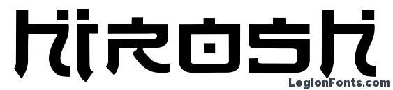 Hirosh Normal font, free Hirosh Normal font, preview Hirosh Normal font