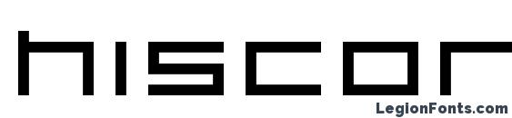 Шрифт Hiscore