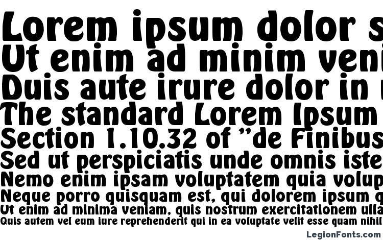 specimens Hobo Bold font, sample Hobo Bold font, an example of writing Hobo Bold font, review Hobo Bold font, preview Hobo Bold font, Hobo Bold font