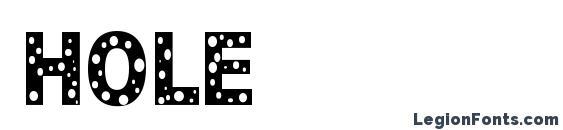 HOLE Font