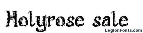 Holyrose sale font, free Holyrose sale font, preview Holyrose sale font