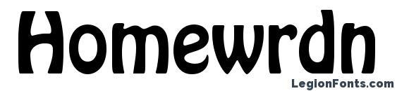 Homewrdn font, free Homewrdn font, preview Homewrdn font