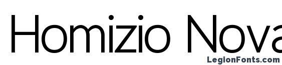 шрифт Homizio Nova, бесплатный шрифт Homizio Nova, предварительный просмотр шрифта Homizio Nova