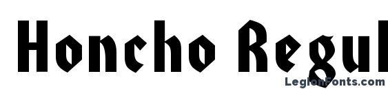 Honcho Regular Font, Bold Fonts