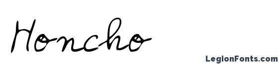 Шрифт Honcho