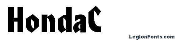 HondaC Font