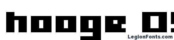 hooge 05 63 font, free hooge 05 63 font, preview hooge 05 63 font