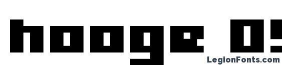 hooge 05 65 Font