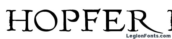 Hopfer hornbook font, free Hopfer hornbook font, preview Hopfer hornbook font