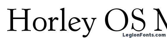 Шрифт Horley OS MT