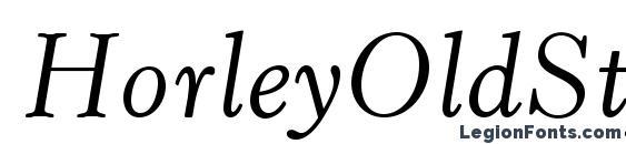 HorleyOldStyleMTStd Italic Font