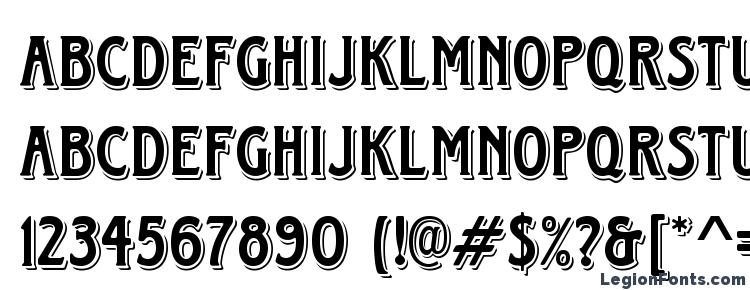 глифы шрифта HorndonD, символы шрифта HorndonD, символьная карта шрифта HorndonD, предварительный просмотр шрифта HorndonD, алфавит шрифта HorndonD, шрифт HorndonD