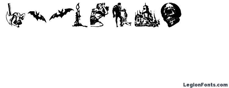 глифы шрифта Horror Dingbats, символы шрифта Horror Dingbats, символьная карта шрифта Horror Dingbats, предварительный просмотр шрифта Horror Dingbats, алфавит шрифта Horror Dingbats, шрифт Horror Dingbats