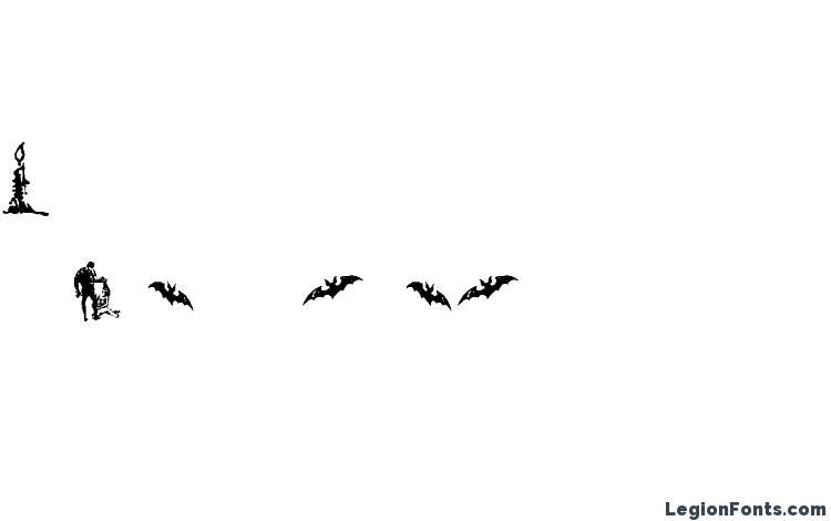 образцы шрифта Horror Dingbats, образец шрифта Horror Dingbats, пример написания шрифта Horror Dingbats, просмотр шрифта Horror Dingbats, предосмотр шрифта Horror Dingbats, шрифт Horror Dingbats