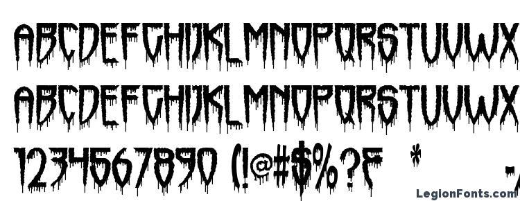 глифы шрифта Horrorfind, символы шрифта Horrorfind, символьная карта шрифта Horrorfind, предварительный просмотр шрифта Horrorfind, алфавит шрифта Horrorfind, шрифт Horrorfind