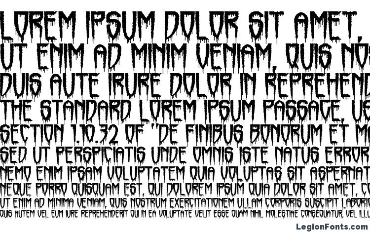 specimens Horrorfind font, sample Horrorfind font, an example of writing Horrorfind font, review Horrorfind font, preview Horrorfind font, Horrorfind font