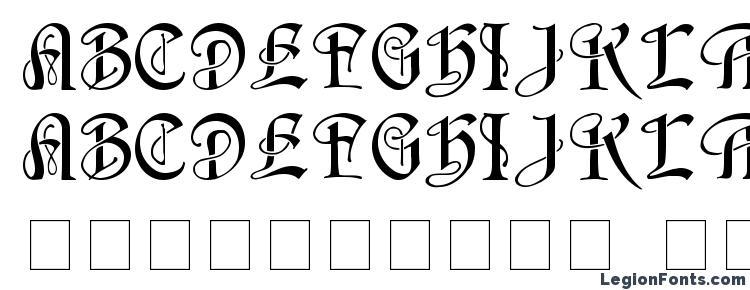 глифы шрифта HorstCaps Medium, символы шрифта HorstCaps Medium, символьная карта шрифта HorstCaps Medium, предварительный просмотр шрифта HorstCaps Medium, алфавит шрифта HorstCaps Medium, шрифт HorstCaps Medium