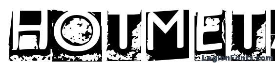 шрифт Hotmetal normal, бесплатный шрифт Hotmetal normal, предварительный просмотр шрифта Hotmetal normal