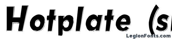 шрифт Hotplate (srb), бесплатный шрифт Hotplate (srb), предварительный просмотр шрифта Hotplate (srb)