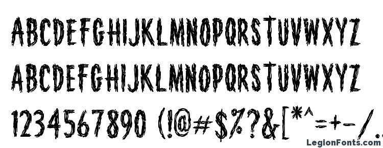 глифы шрифта HouseofHorror, символы шрифта HouseofHorror, символьная карта шрифта HouseofHorror, предварительный просмотр шрифта HouseofHorror, алфавит шрифта HouseofHorror, шрифт HouseofHorror