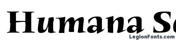 Humana Serif ITC Bold Font