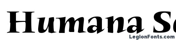 Шрифт Humana Serif ITC TT Bold