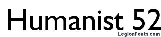 Humanist 521 BT Font