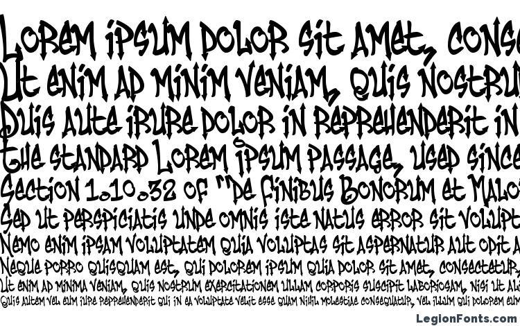 образцы шрифта Humbucker Nasty, образец шрифта Humbucker Nasty, пример написания шрифта Humbucker Nasty, просмотр шрифта Humbucker Nasty, предосмотр шрифта Humbucker Nasty, шрифт Humbucker Nasty