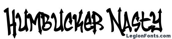 шрифт Humbucker Nasty, бесплатный шрифт Humbucker Nasty, предварительный просмотр шрифта Humbucker Nasty