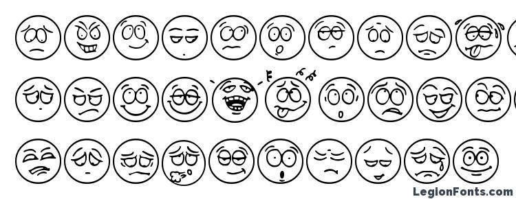 глифы шрифта Humeur, символы шрифта Humeur, символьная карта шрифта Humeur, предварительный просмотр шрифта Humeur, алфавит шрифта Humeur, шрифт Humeur