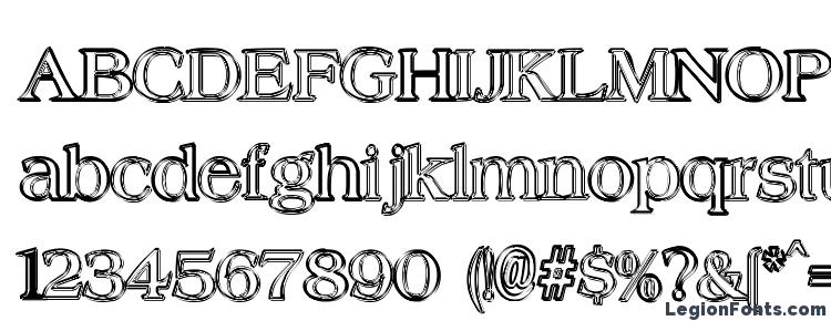 glyphs Hungover Outline font, сharacters Hungover Outline font, symbols Hungover Outline font, character map Hungover Outline font, preview Hungover Outline font, abc Hungover Outline font, Hungover Outline font