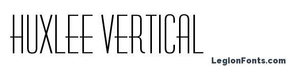 Huxlee Vertical font, free Huxlee Vertical font, preview Huxlee Vertical font