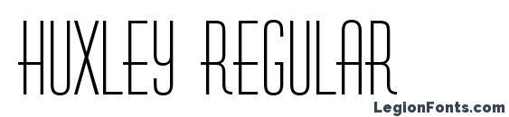 Huxley regular Font