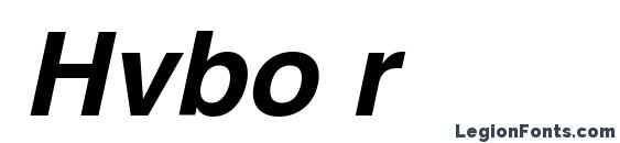 шрифт Hvbo r, бесплатный шрифт Hvbo r, предварительный просмотр шрифта Hvbo r