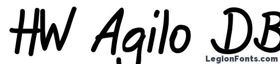 Шрифт HW Agilo DB