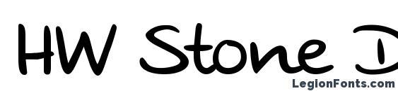 Шрифт HW Stone DB