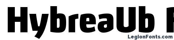 Шрифт HybreaUb Regular