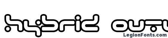 hybrid Outline Font