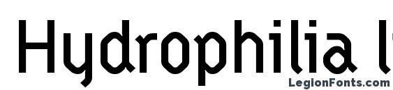 Hydrophilia liquid Font