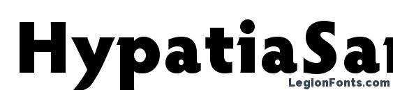 HypatiaSansPro Black Font