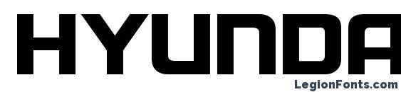 Шрифт Hyundai Normal, Жирные (полужирные) шрифты