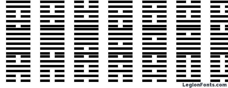 глифы шрифта I Ching, символы шрифта I Ching, символьная карта шрифта I Ching, предварительный просмотр шрифта I Ching, алфавит шрифта I Ching, шрифт I Ching