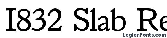 I832 Slab Regular Font
