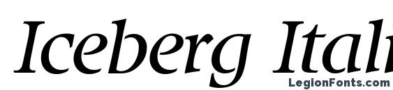 Iceberg Italic font, free Iceberg Italic font, preview Iceberg Italic font