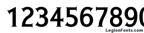IdealGothic Bold Font, Number Fonts