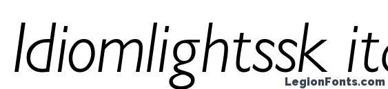 Шрифт Idiomlightssk italic