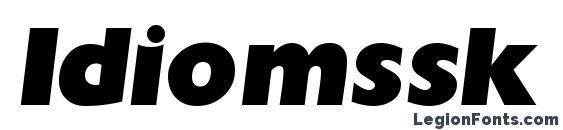 Шрифт Idiomssk bold italic
