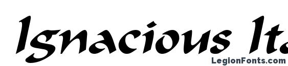 шрифт Ignacious Italic, бесплатный шрифт Ignacious Italic, предварительный просмотр шрифта Ignacious Italic